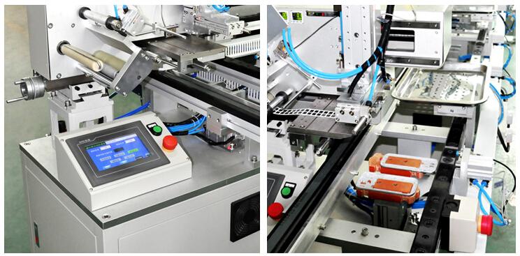 手机全自动贴片生产线(又称为:手机壳全自动贴辅料组装线、全自动贴辅料装手机壳配线)XTM20150110贴标机是鑫台铭自主研发推出的最新一代手机辅料全自动贴片机,仅2人照看就可完成以前20个员工的工作,产能高达每小时1500片,效率高,性能稳定,占地少,还可以按客户要求增减工位,是手机行业降低成本,节省人力,提高产能的最佳选择。   手机壳全自动贴辅料生产线标准配置:8台贴标机,1个翻转机构,1个排废机构,4个转角机构,6段流水线。 适用产品:手机外壳辅料粘贴及热熔、装配,平板电脑外壳辅料粘贴及热熔等工位